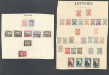 Latvia - Lot of MH/Used Stamps on Collector Page 10000/78