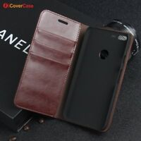 Luxury Genuine Leather Wallet Flip Case Stand Cover For Google Pixel