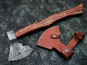 """New Beautiful Handmade Damascus Steel AXE """"UNIQUE AXE"""" Limited Edition WD-9409"""