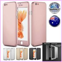 Hybrid 360° Tempered Glass + Acrylic Hard Case Cover Skin For iPhone 6 6S 7 Plus