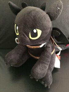 """Build A Bear Toothless How To Train Your Dragon Plush 14"""" 2015 Black"""