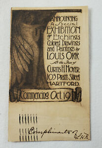 1908 Louis Orr Art Exhibition at Curtis Moyer Gallery Hartford CT Postcard