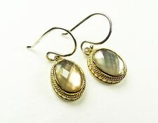 ANNA BECK $200 Sterling Silver 14K Gold Plated Mother of Pearl Dangle Earrings