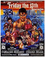 Original Tyson, Hector Camacho v Edwin Rosario Boxing Fight Poster Fight Poster