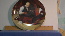 """Norman Rockwell """"Grandpa's Gift"""" Edwin M. Knowles Collectible Plate 8.5"""""""