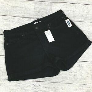 """Old Navy 16 Plus Black Denim O. G. Shorts High Rise Cuffed New NWT Inseam 3"""""""