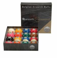 New Belgian SUPER ARAMITH Tournament TV Set Pool Balls BRAND NEW Billiard ARTV
