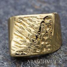 Silberring Silber 925 Ring  Verstellbar  Vergoldet Offen  R892 Unisex🕶