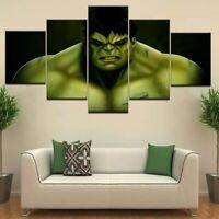 Incredible Hulk Marvel Superhero Kids 5 Piece Childrens Bedroom Canvas Print