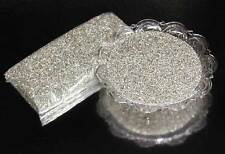 German Glass Glitter  1/2 Lb. ~ SILVER * Fine