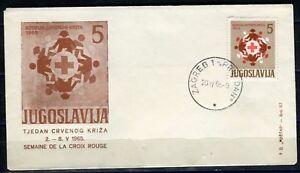 1111a - Yugoslavia 1965 - Red Cross - Zagreb - Croatia - FDC