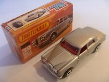 VINTAGE pressofusione MATCHBOX LESNEY superveloce Boxed ROLLS ROYCE SILVER SHADOW