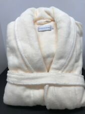 Restoration Hardware  Size L Ivory LONG 100% Hydro -Cotton Bath Spa Robe unisex