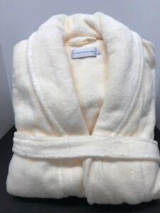 NWT Restoration Hardware  Size L Ivory LONG 100% Hydro -Cotton Spa Robe unisex