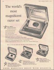 Vintage Lot MCM B&W Magazine Ads, Gillette Razor, English Electric 1956