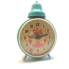Rare VINTAGE YANTAR JANTAR ALARM CLOCK ANIMATED LEOPOLD USSR WORKING servised