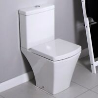 Square Compact Short Projection Close Coupled Toilet Cistern Quick Release seat