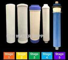 Reverse Osmosis Replacement Filter Set RO Cartridges 5 pcs w/ 100 GPD Membrane