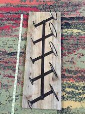 Wine bottle rack, rustic barn wood, reclaimed, wall hanger, antiqued