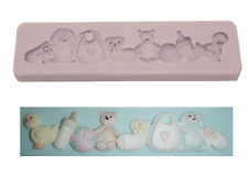 Nursery Border Silicone Mould Baby Party Shower Cake Mould Mold Silicone Candle