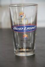 BUDWEISER BUD LIGHT Salt Lake Olympics 2002 16 oz Beer Glass Barware Collectible