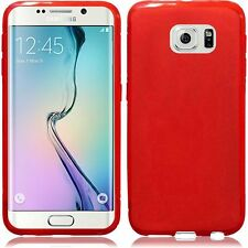 For Samsung Galaxy S6 EDGE TPU CANDY Gel Flexi Skin Case Frosted +Screen Guard