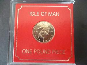 1982 Percy's Isle Of Man £1 one pound coin uncirculated housed in rigid case.
