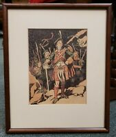 Vintage Circa 1950 Scottish Highlander Framed Print
