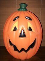 "Vintage Halloween 24"" Lighted Blow Mold Jack-O-Lantern Pumpkin Yard Decoration"