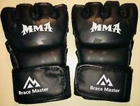 Brace Master MMA UFC Boxing Gloves for Men Women Leather ~ FAST FREE SHIPPING !~