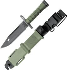 Ontario M-9 Combat Olive Handle 420 Stainless Fixed Blade Knife w/ Scabbard 490
