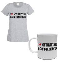 I LOVE MY BRITISH BOYFRIEND - Britain / UK / Gift / Women's T-shirt & Mug Set