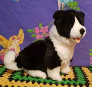 *sitting 25cm plush BORDER COLLIE Puppy* by Bocchetta