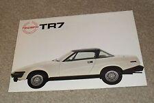 Triumph TR7 Drophead Convertible Brochure 1979-1980