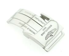 Genuine Breitling Steel Deployment Clasp for 20mm Leather Watch Strap