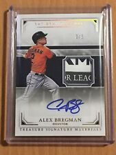 2017 National Treasures Houston Astros Alex Bregman TAG Autograph SSP /5 WOW