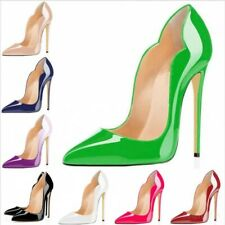 Party Clubwear Women Shoes Pointed Toe High Heels Pumps Patent Leather Gradient