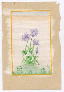 Floral Flower Hand Original Work Art Miniature Water Color Paper Painting Decor