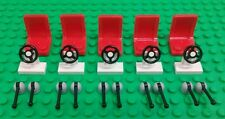 *NEW* Lego Bulk Red Chairs Seats White Steering Wheels Levers Cars Space Ships