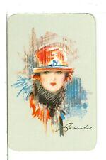 "Single Vintage Mini Playing Card Artist Barribal ""Glam Girl"" Listed as BA-9-9 A"