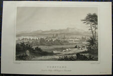 KONSTANZ am BODENSEE. Orig. Stahlstich von HÖFLE / KURZ, 1850