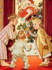 Mother kissing Santa by Joseph Christian Leyendecker
