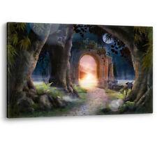 Hada de jardín encantado con arco de LONA pared arte Foto impresión de fantasía A0 a A4