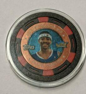 Allen Iverson Poker Chip 2005-06 NBA Topps Black/Red #256/399 All-Star MVP Rare