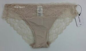 "NWT Calvin Klein QF1200 ""Seductive Comfort"" Lace Bikini, Cream (107)"