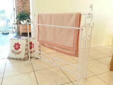 French Style Quilt Blanket Stand Bathroom Towel Rail Rack Scarf Display WHT001 B