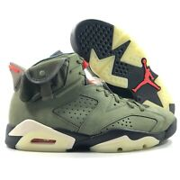 Nike Air Jordan 6 Retro SP Travis Scott Olive Green Infrared Black 4Y-11.5 Men's