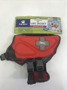 Top Paw Life Jacket Red Size XS (Dogs 5-15 lbs) New