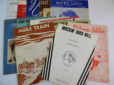 VTG LOT OF 13 MID CENTURY SHEET MUSIC SONGS LYRICS COLLECTIBLE COLLECTION