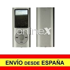 Reproductor Digital MP3/MP4 LCD Aluminio EBOOK / FM Multifunción Gris a3088
